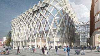 Computer-generated image of the proposed John Lewis store