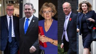 Michael Gove, Liam Fox, Andrea Leadsom, Chris Grayling and Penny Mordaunt