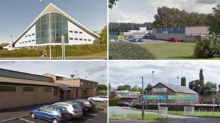 Waterworld, Queensway, Gwyn Evans and Chirk leisure centres