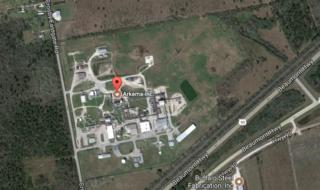 Bản đồ khu vực có nhà máy hóa chất Arkema