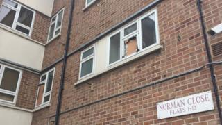 The flat where the attack happened