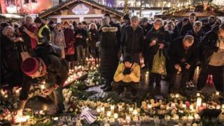 A memorial on the first anniversary of the terror attack on a Christmas market in Berlin