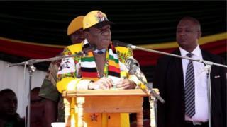 Rais wa Zimbabwe Emmerson Mnangagwa