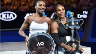 Venus Williams and Serena Williams for di Australian Open finals