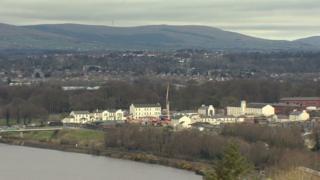 Ariel view of the former Ebrington Barracks