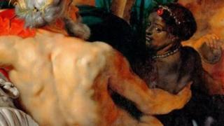 鲁本斯(Rubens)的作品《天堂的四条河流》(The Four Rivers of Paradise)[亦称作《四大洲》(the four continents)]就十分不同寻常,画中有一位强壮的黑人女性形象(Credit: Getty Images)