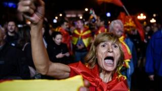 A supporter of campaign to boycott a referendum on changing Macedonia's name