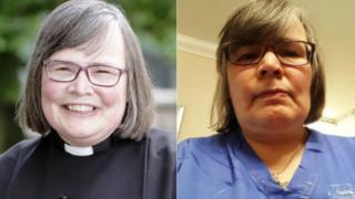 Rev Dr Susan Salt at ordination and back on the ward