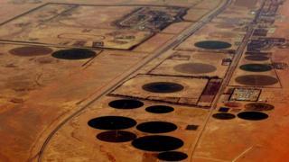 میدان نفتی عربستان از آسمان