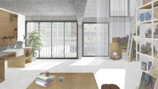 Park Hill Artspace artist studio (artist impression)