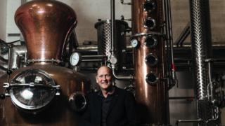 David Gates and distilling plant