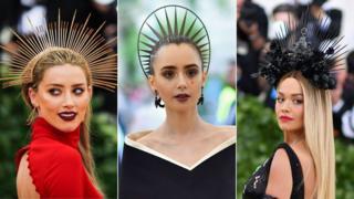 Rocking the headwear: Amber Heard, Lily Collins and Rita Ora