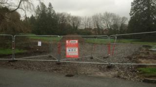 The development site where Persimmon plans to build