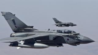 Two RAF Tornado aircraft