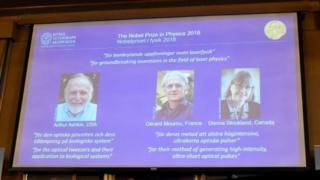 Le Prix Nobel de Physique 2018 a été décerné à trois chercheurs pour leurs recherches sur les lasers.
