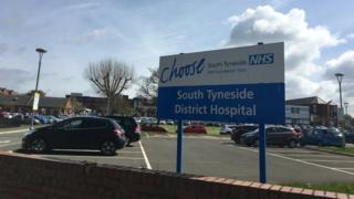 South Tyneside District Hospital entrance sign