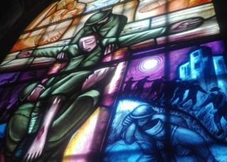 Nicholas Mynheer's window at Southwell Minster