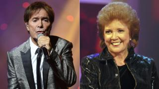 Cliff Richard and Cilla Black