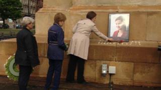 Kezia Dugdale and Nicola Sturgeon at vigil for Jo Cox in Glasgow