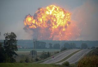 Калиновка, взрывы