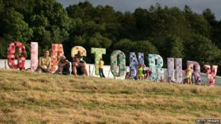 Glastonbury sign