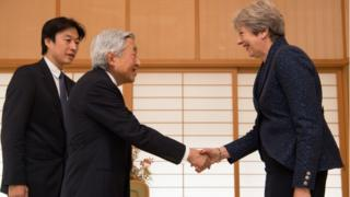 Theresa May meets Emperor Akihito of Japan