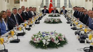 Çankaya köşkünde Başbakan Binali Yıldırım ile Alman şirketlerinin temsilcilerinin toplantısı