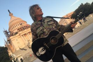 Mike Peters on Capitol Hill, Washington DC