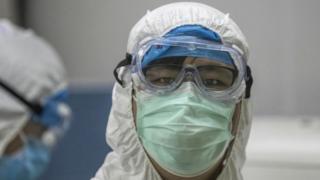 Coronavirus lab worker
