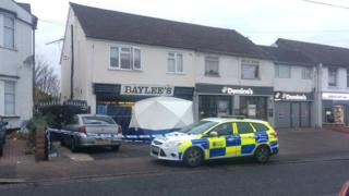 Scene at Southend Road, Grays