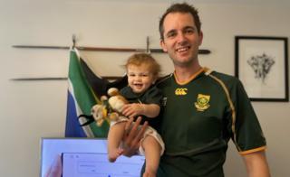 Kris Van Wellen and baby son Finley