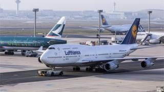 a Lufthansa plane