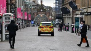 lockdown on Glasgow streets