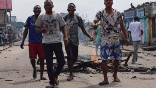 Imyiyerekano i Kinshasa, DR Congo - 20 ukwezi kwa cumi na kabiri 2016