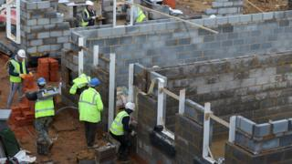 Workers on a building site