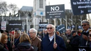 Westminster rally against anti-Semitism