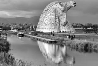 The Kelpies (seeing double) Frank McCafferty from Falkirk