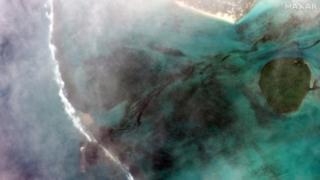 MV Wakashio aground off Mauritius