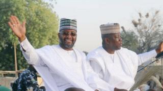Zamfara govnor elect Mukhtar Idris and Zamfara state govnor Abdul'Aziz Yari