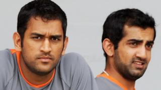 गौतम गंभीर, महेंद्र सिंह धोनी