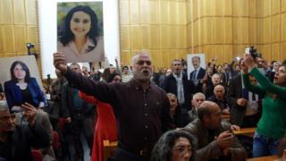 HDP parlamento grup toplantısından bir görüntü
