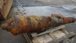 Portsmouth dredging cannon find