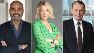George Alagiah, Lauren Laverne and Andrew Marr