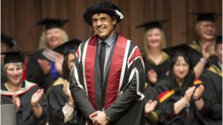 Chris Coleman receives honorary degree from Swansea University