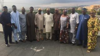 Aworan Obasanjoa ati awọn ọmọ ẹgbẹ afenifere