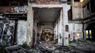 Fábrica abandonada en Detroit.