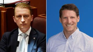 James Paterson, left, and Andrew Hastie, right