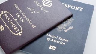 گذرنامه های ایرانی و آمریکایی