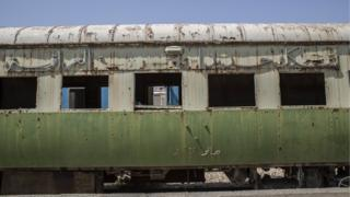 Part of Saddam Hussein's carriage purchased from France in 1981, now left derelict