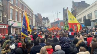 Parade in Liverpool